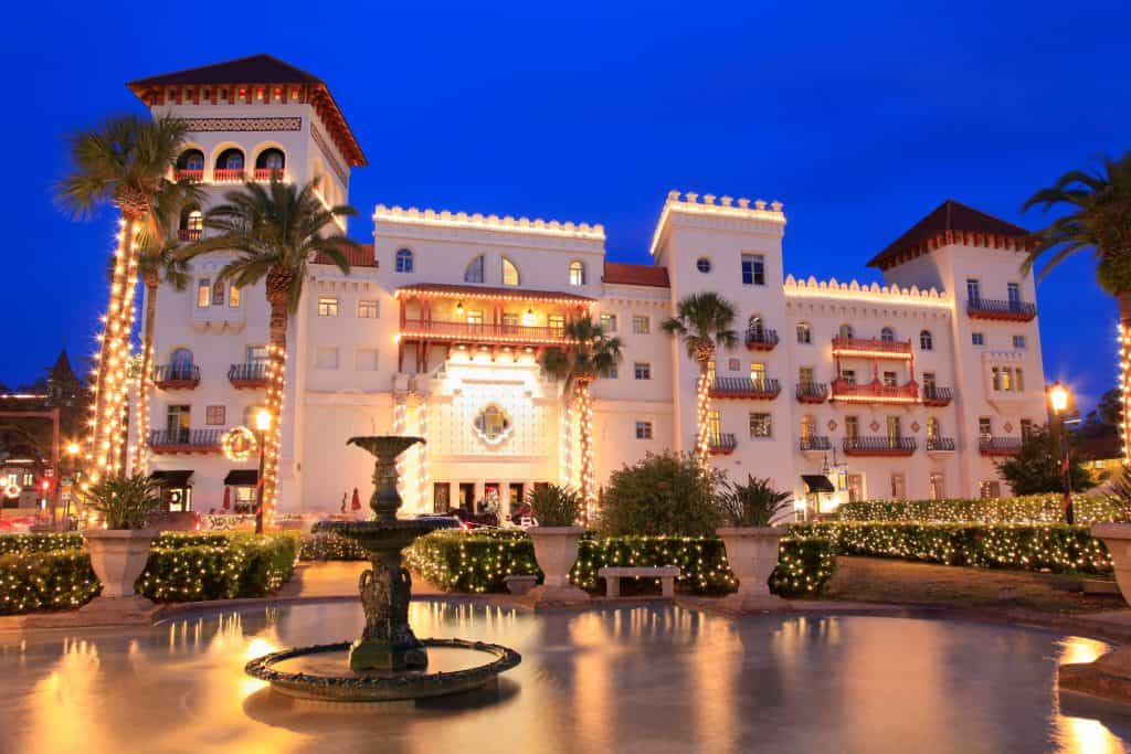 The exterior of the Casa Monica in St. Augustine, which houses the Poseidon Spa, one of the best spas in Florida.