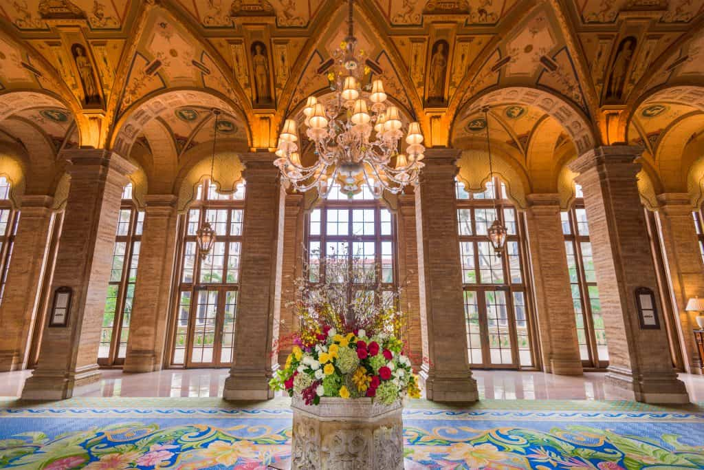The lobby of the Breakers Resort, which leads to the Spa, the best spa in West Palm Beach.