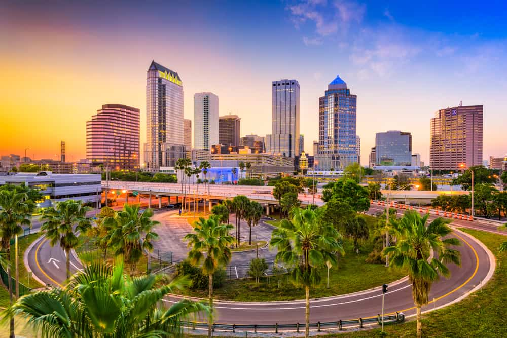 Downtown view of Tampa