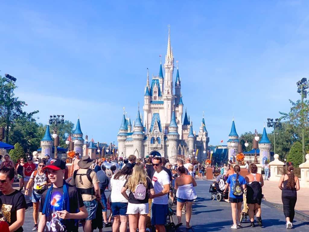 The centerpiece of Magic Kingdom in Orlando, Florida, Cinderella's Castle.