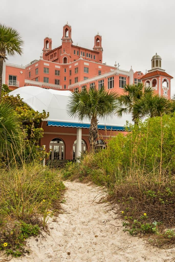 """The Don Cesar Hotel, or """"pink castle,"""" in St. Petersburg, Florida."""