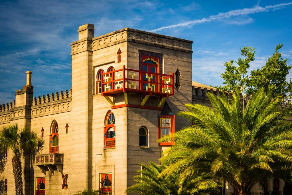 The moorish architecture of the Villa Zorayada in St. Augustine.