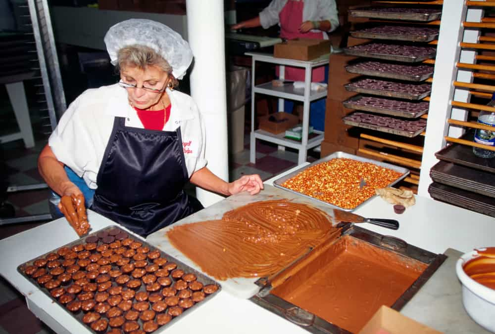 Come for a free tour at Angell and Phelps Chocolate Factory.