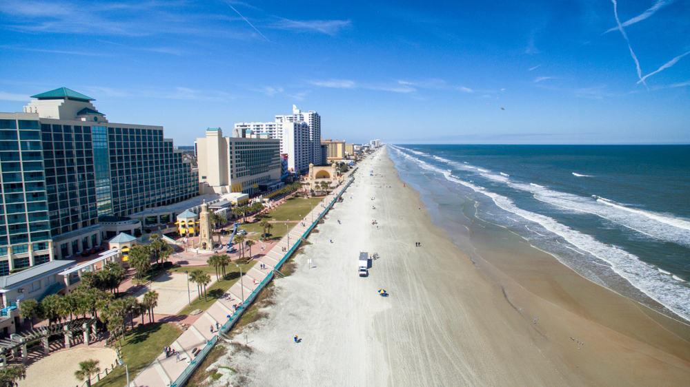 Ariel view of Daytona Beach.