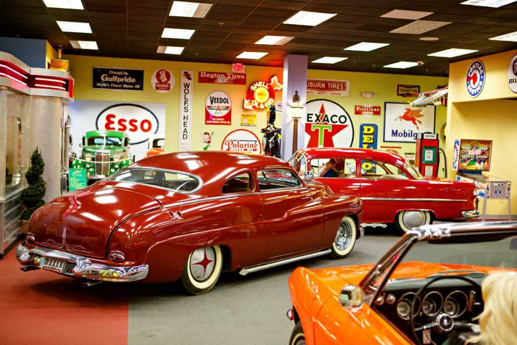 Vintage cars are on display at the Orlando Auto Museum.