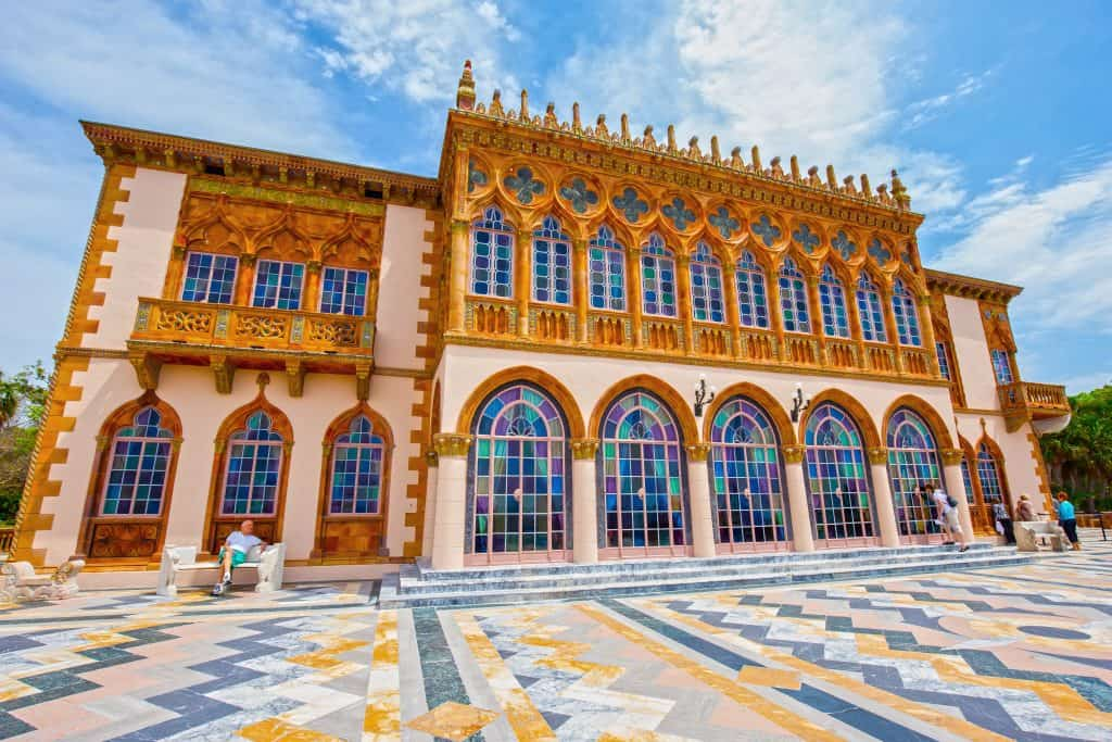 The intricately beautiful exterior of the Ringling Museum of Art in Sarasota, Florida.