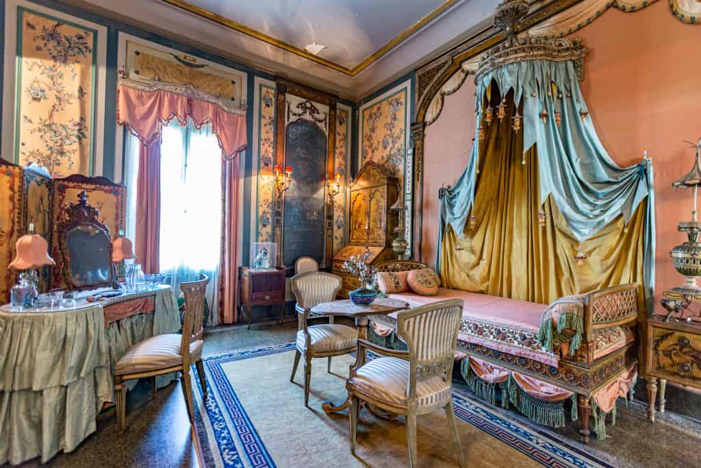 The lavish interior of the Vizcaya Museum & Gardens in Miami.
