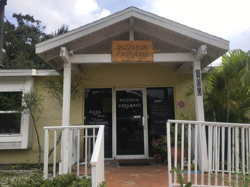 Pizzeria Gregario, in a converted cottage in Safety Harbor, one of the best restaurants in Clearwater.