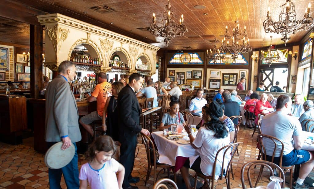 The dining room of the Columbia, one of the best restaurants in Clearwater.