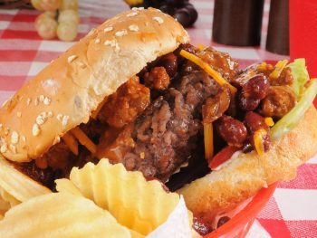 One of the restaurants in lakeland serves a delicious chili burger