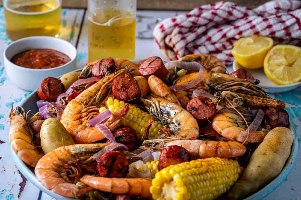 Low country boil is served at Owen's fish camp in downtown Sarasota.