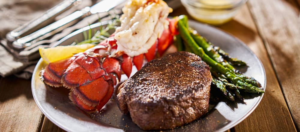 Surf and Turf at Crab & Fin in Saint Armands Circle
