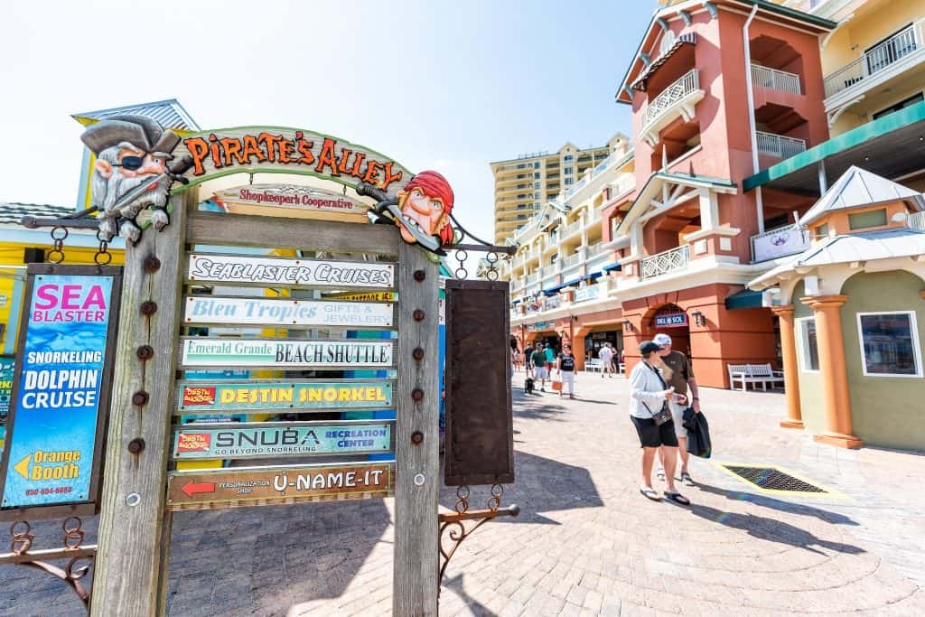 Pirate's Alley on Destin Boardwalk is the perfect place to get in the spirit of embracing your inner pirate!