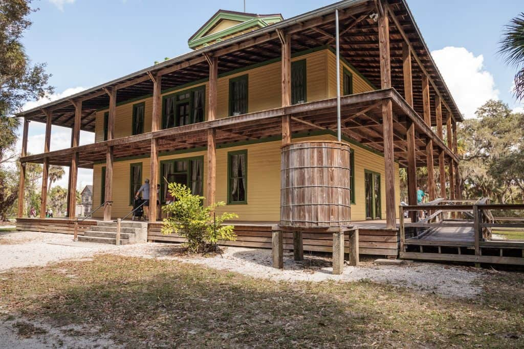 One of the restored buildings at Koreshan Historic State Park, one of the most unusual Fort Myers activities.