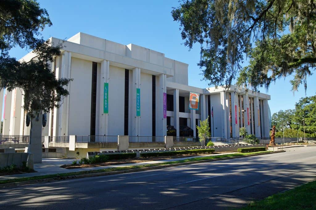 The exterior leading up to the Museum of Florida History, one of the best things to do in Tallahassee.