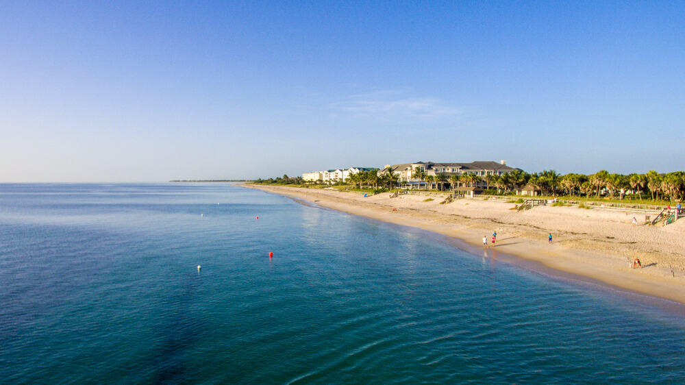 The beautiful spoil Island located on Indian River Lagoon in Vero Beach