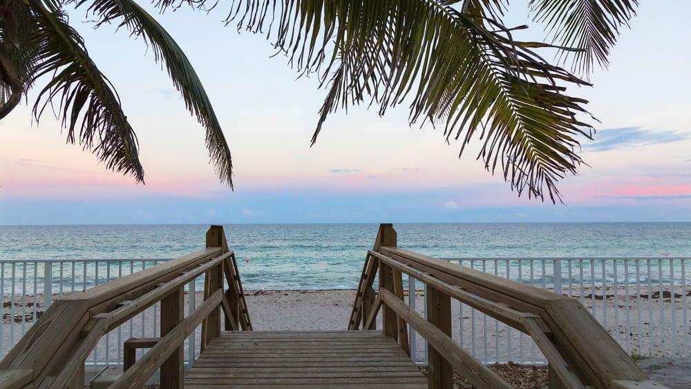 beautiful sunset in Vero Beach