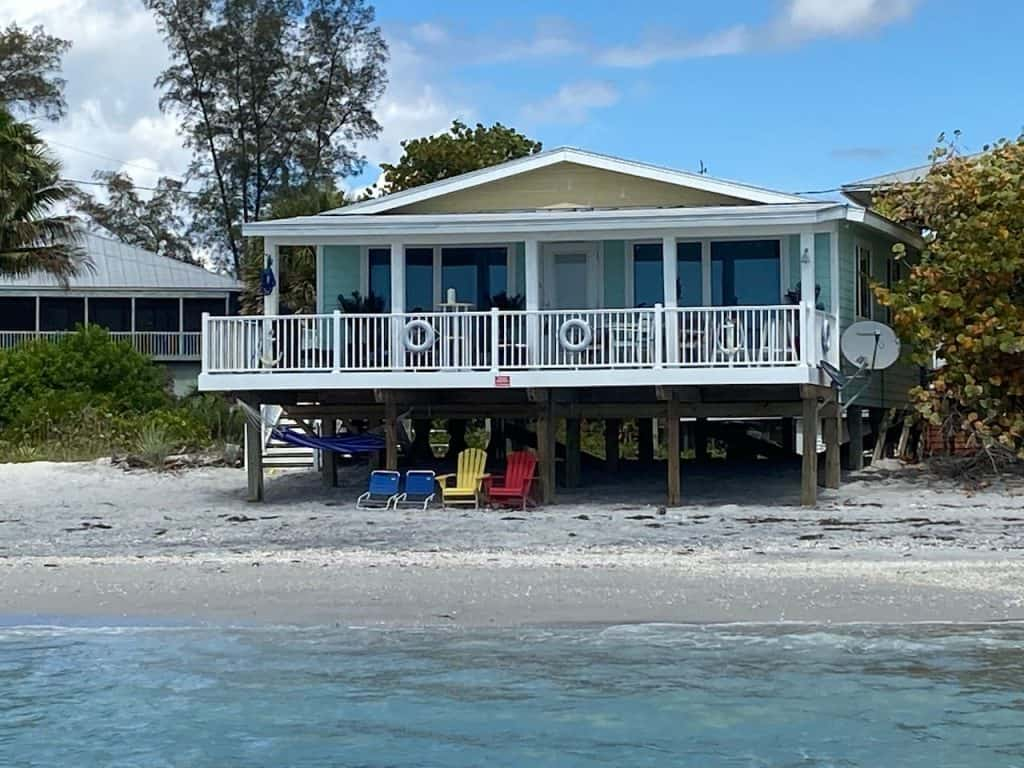 Photo of a beachfront cottage in Placida, Fl.
