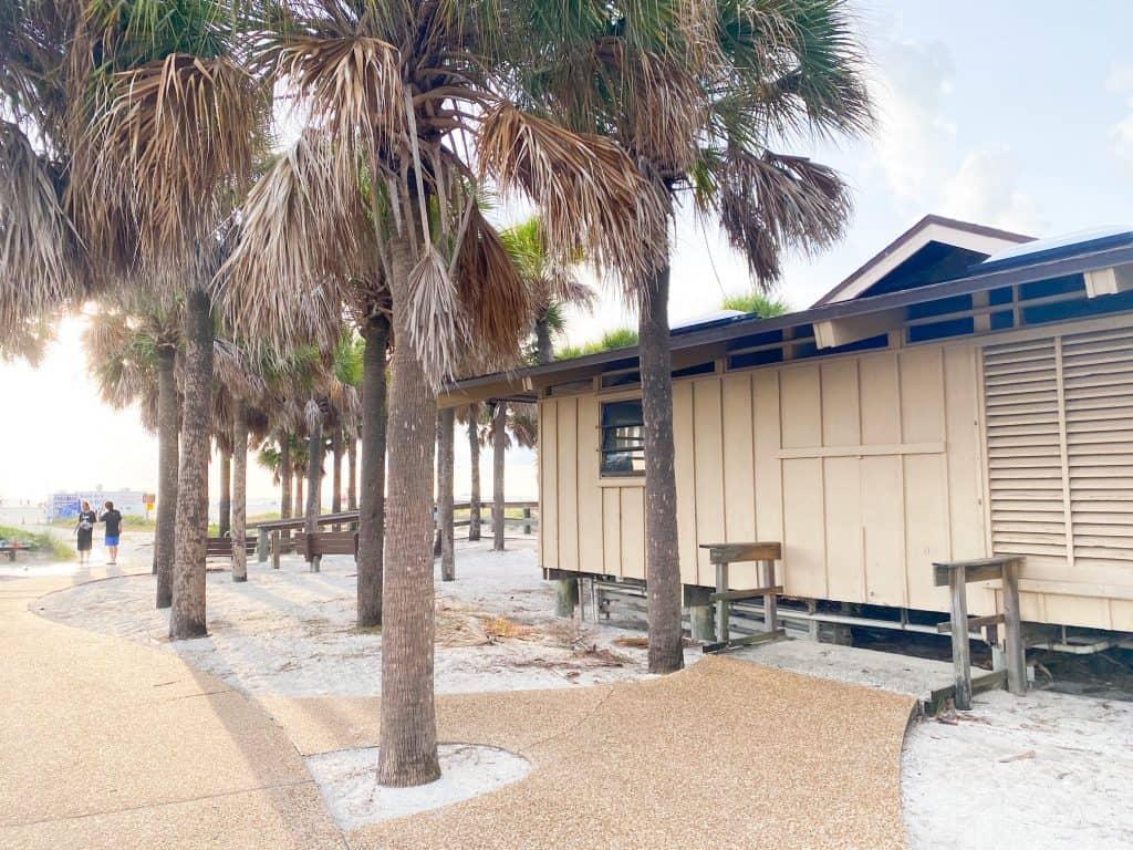 bathrooms at Sand Key Park