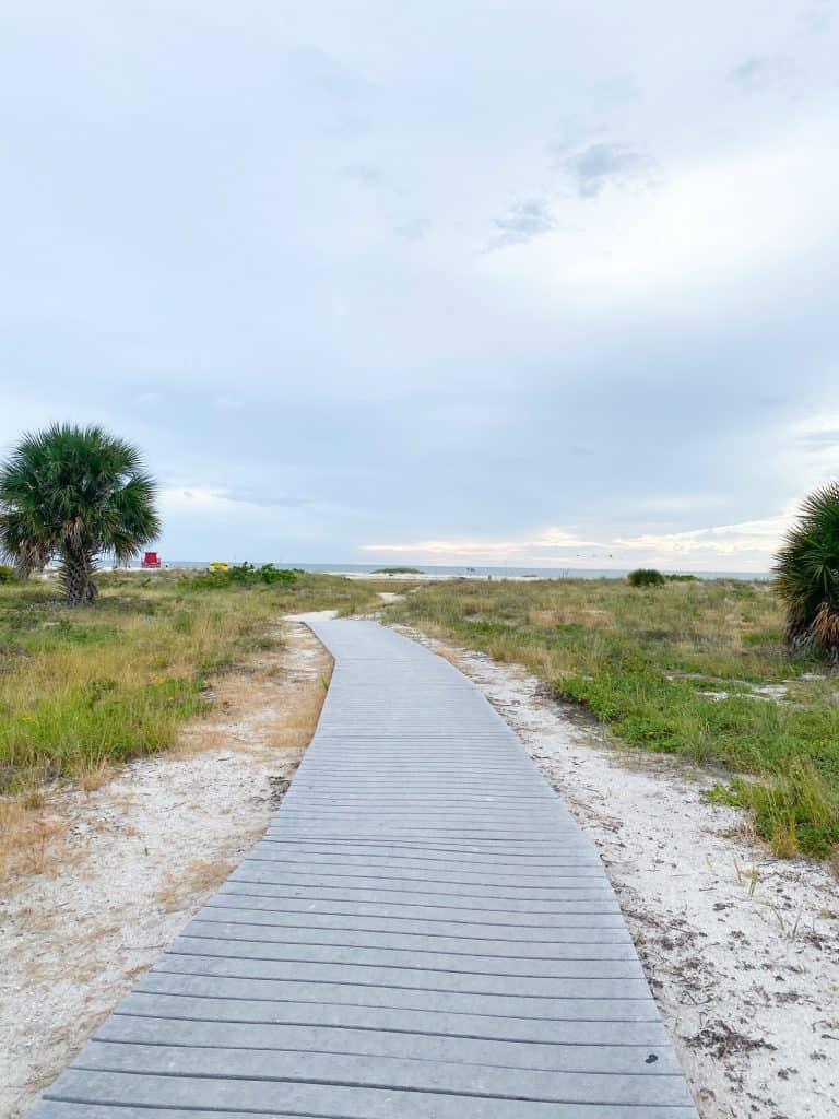 boardwalk leading up to Sand Key