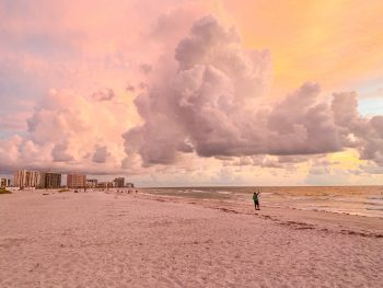 Sand Key Beach at sunset