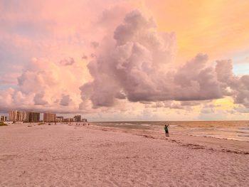 Sand Key Beach at sunset