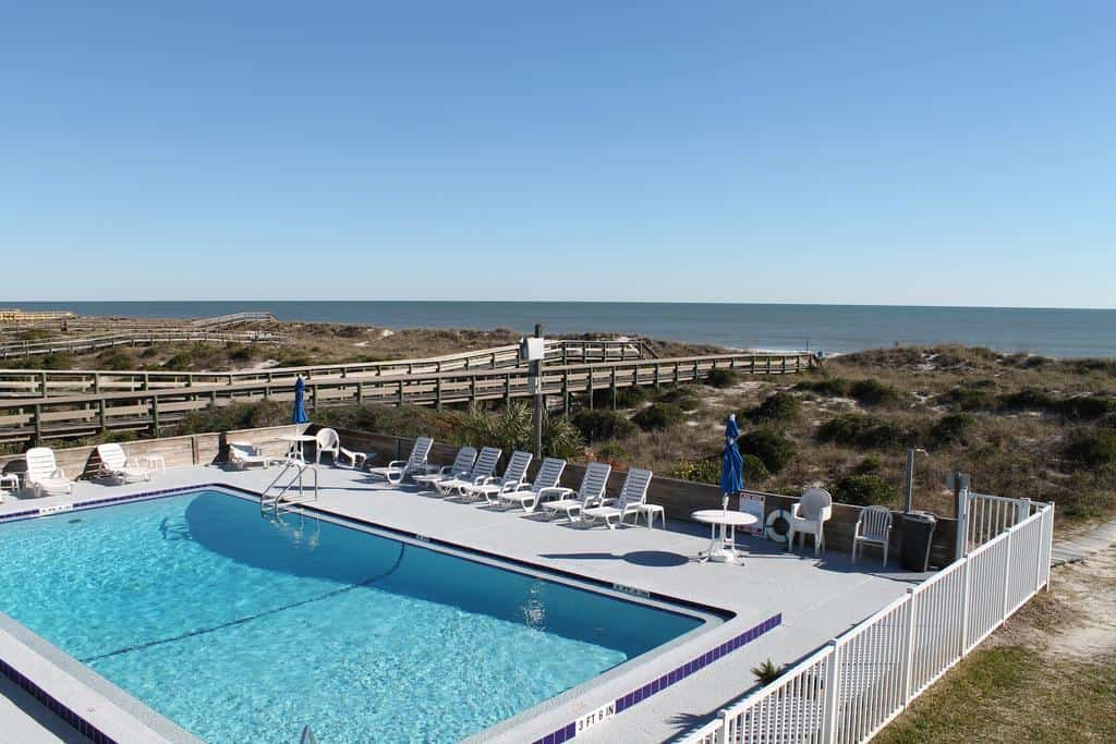 A swimming pool by the beachfront on Amelia Island