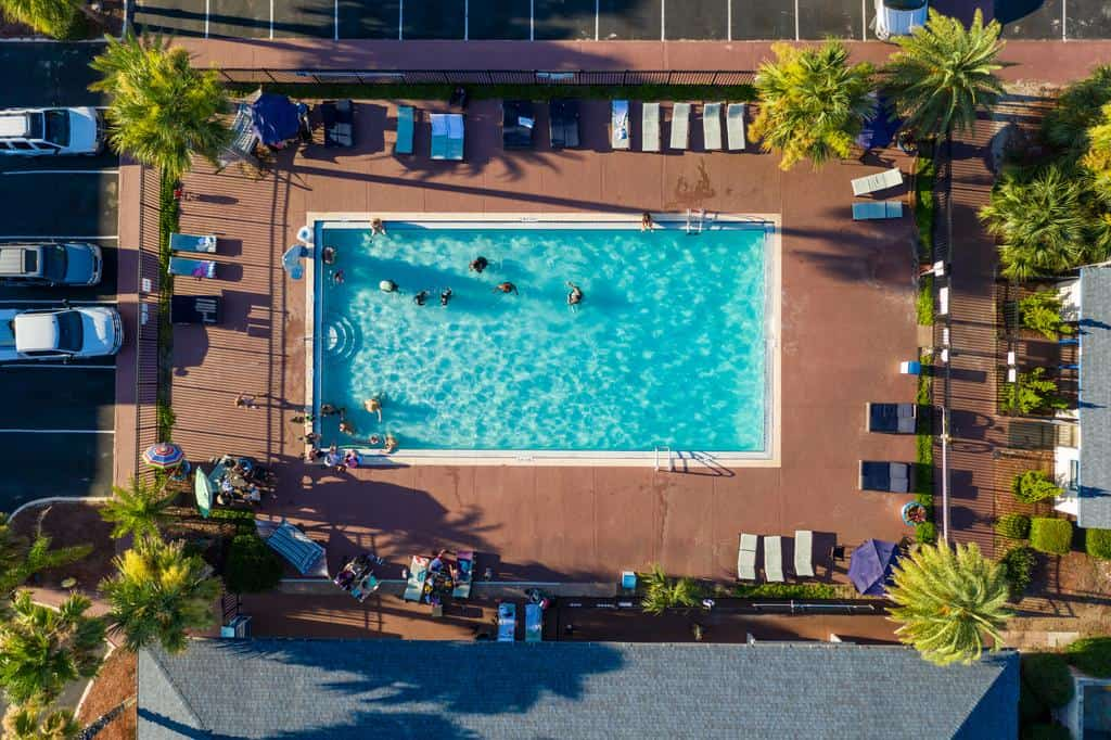 The swimming pool at an amelia island hotels