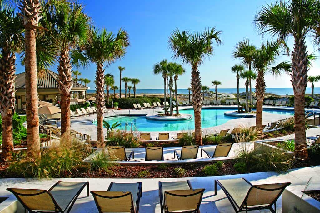 The pool at the Ritz Carlton on Amelia Island