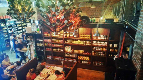 The eclectic interior of Datz, one of the best restaurants in Saint Petersburg.