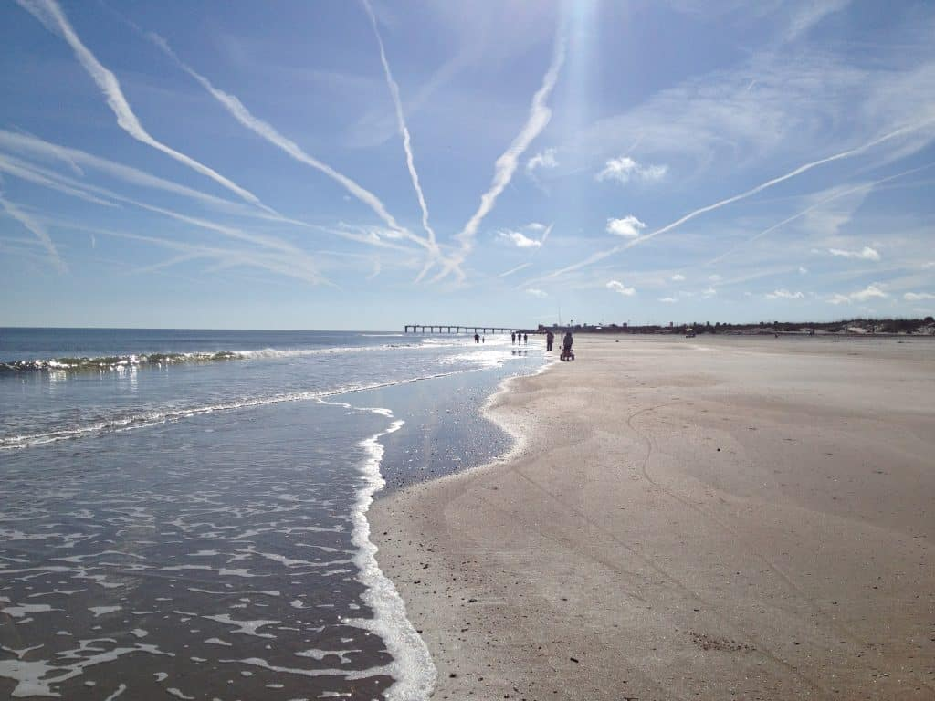 The smooth beaches of Anastasia State Park make the perfect destination for camping in Florida.