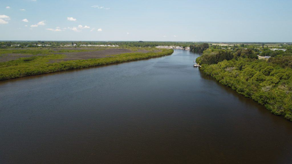 The Little Manatee River follows the Little Manatee River Hiking Trail on its second half.