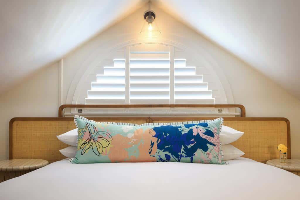 A beautiful hotel bedroom