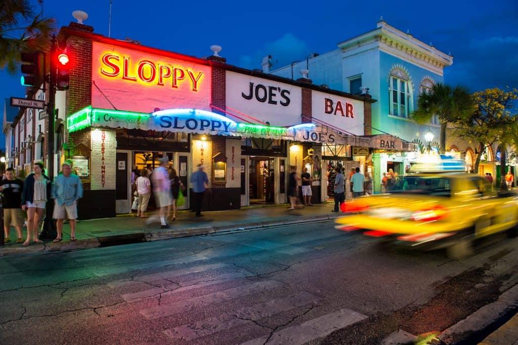 The nightlife in Key West