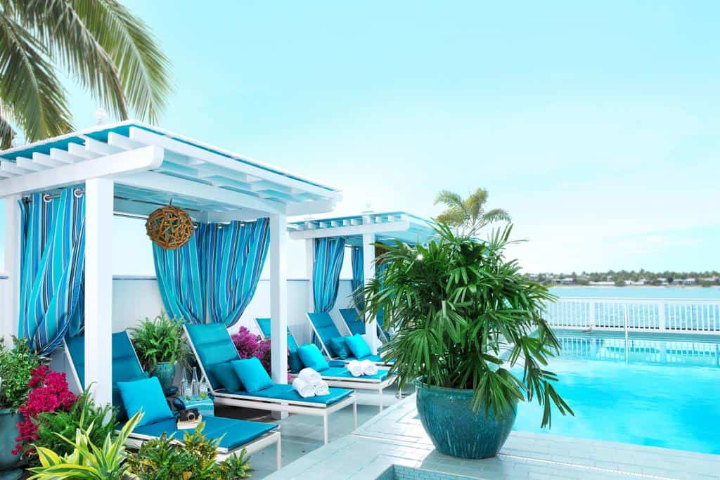A beautiful poll area with a view of the sea one of the great key west hotels