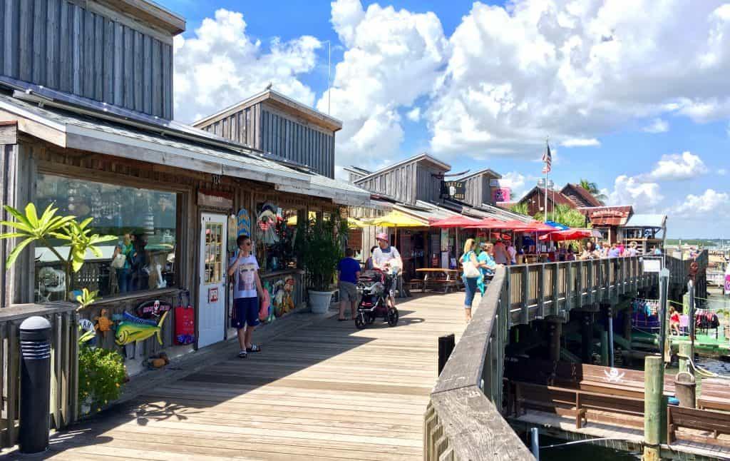 The Jersey Shore-inspired boardwalk of the Boardwalk Grill, one of the best restaurants in St. Petersburg.