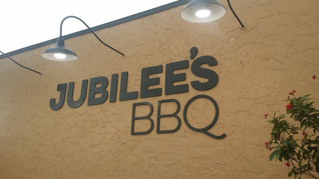 The logo of Jubilee's BBQ, one of the best restaurants in St. Petersburg.