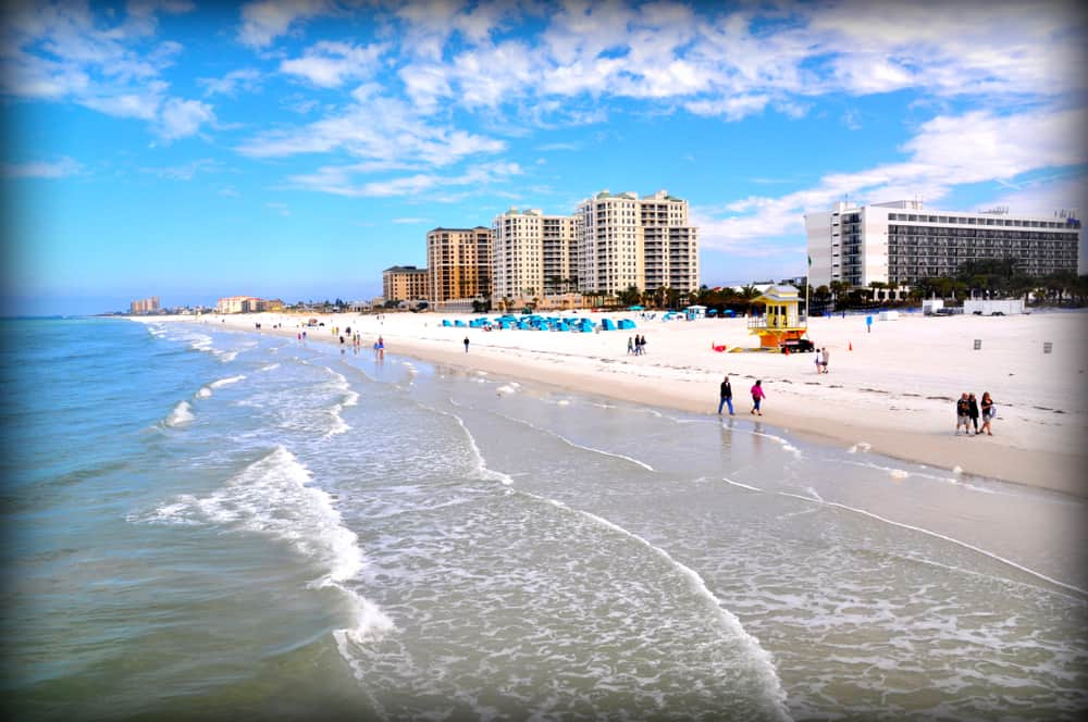 Clearwater beach is one spring break destinations in florida known for a more laid-back vibe