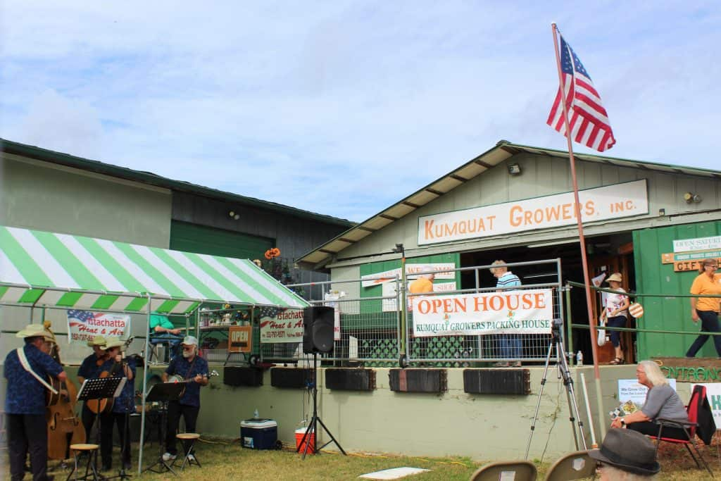 The entrance to the Packing House at Kumquat Growers, one of the best things to do in Dade City.