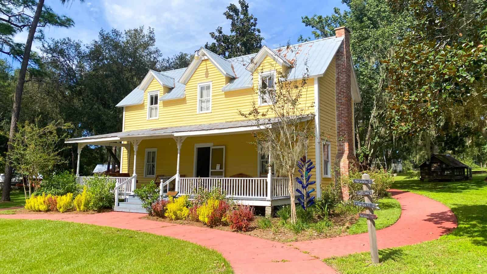 A completely restored and preserved home at the Pioneer Museum in Dade City.