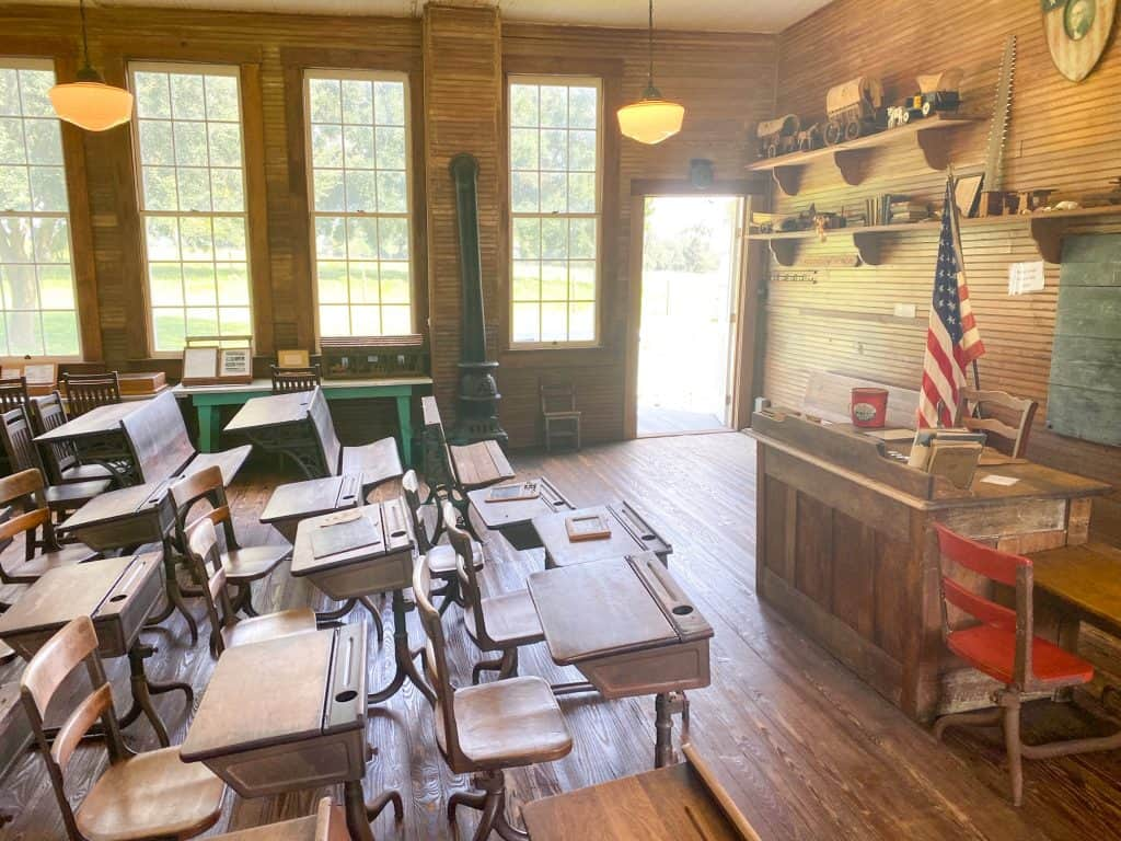 The schoolhouse at the Pioneer Museum in Dade City, one of the best Dade City attractions.