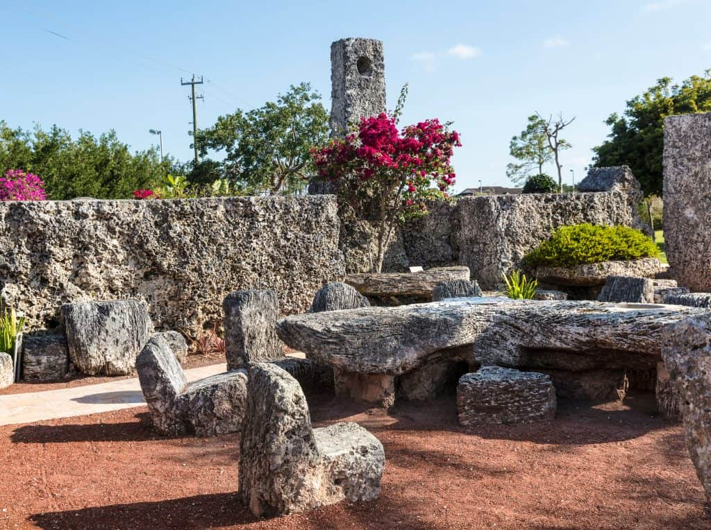 The stone creations at Coral Castle, one of Florida's greatest mysteries.