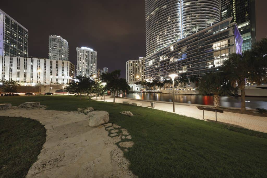 The Miami Circle in the middle of Midtown, one of the best things to do in Miami.