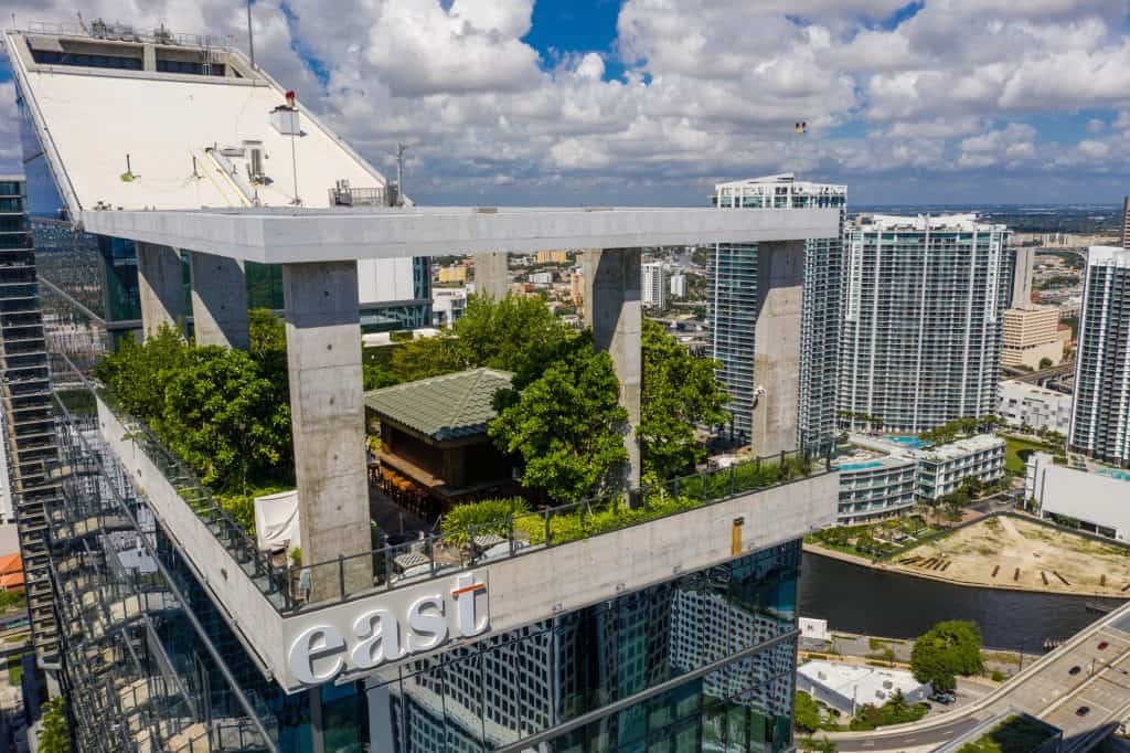 Sugar, the best rooftop bar, one of the best things to do in Miami.