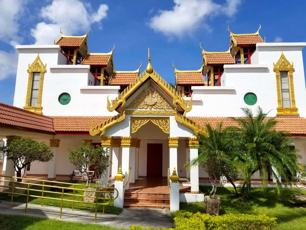 The exterior of the Thai Temple in Miami, Florida.
