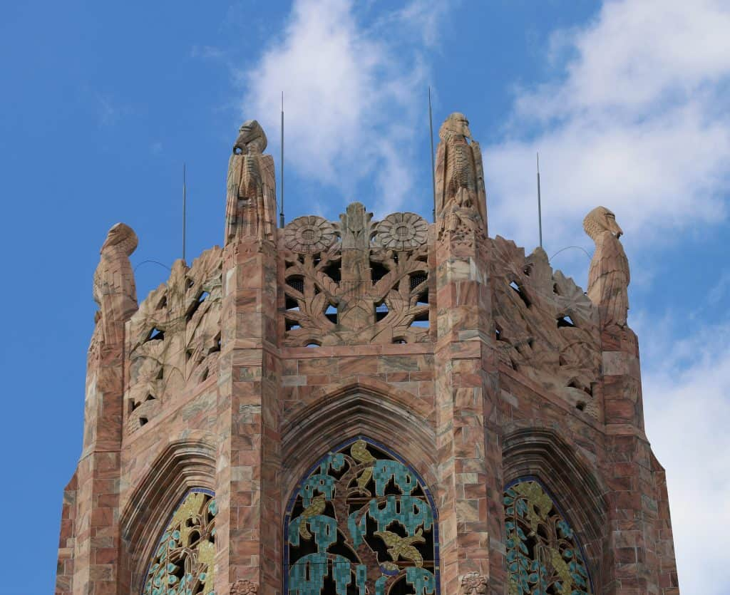 The very top of Bok Tower, one of the best things to do in Orlando.