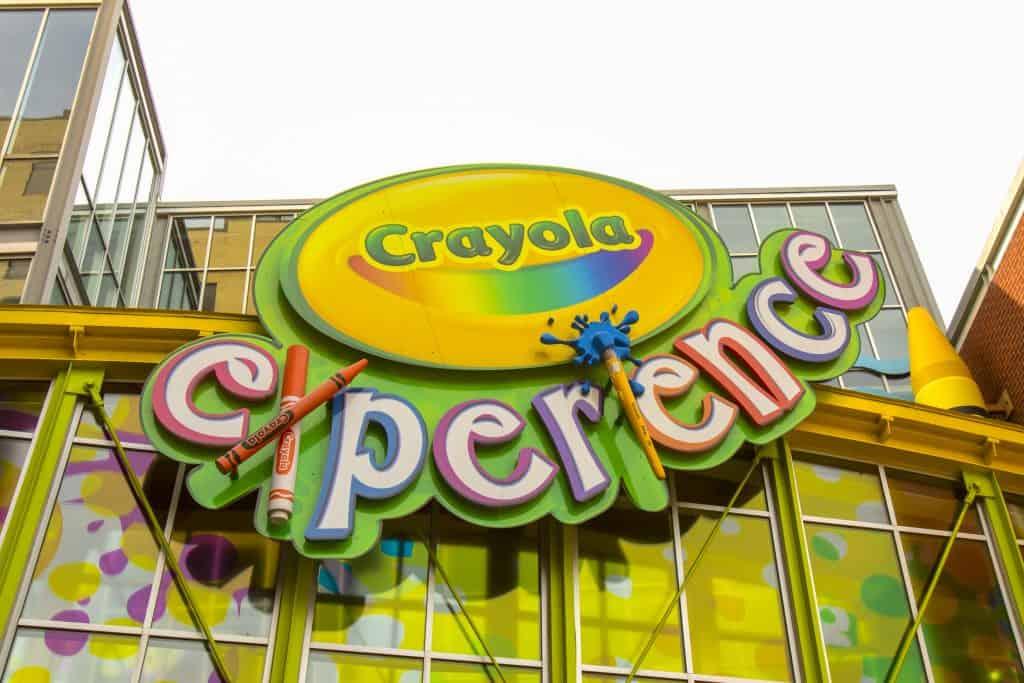 The Crayola Experience entrance at the Florida Mall in Orlando, Florida.