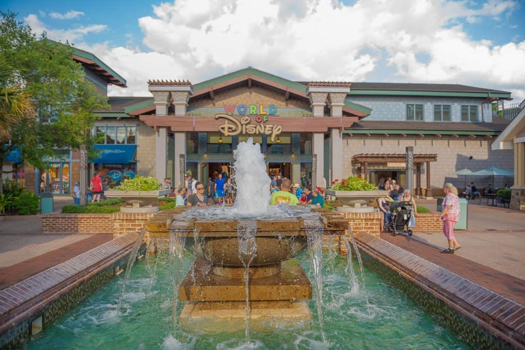 The World of Disney Store in Disney Springs, one of the best things in Orlando to do with kids.