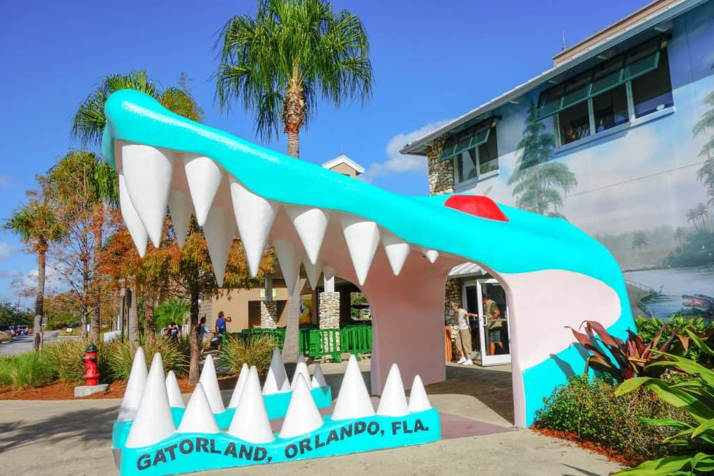 The entrance to Gatorland, one of the best places to see alligators in Florida.