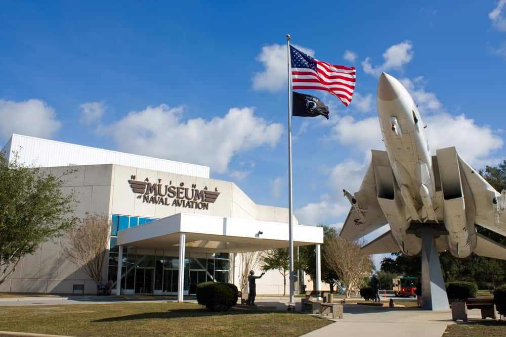 The naval aviation museum is one of the attractions in Pensacola
